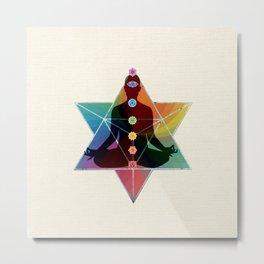 Sacred Geometry Merkaba Chakra Meditation Metal Print
