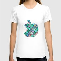 apple T-shirts featuring APPLE by Monika Strigel