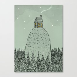 'The house on the hill' Canvas Print