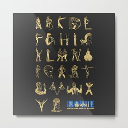 AlphaBowie: The David Bowie Typeface Metal Print