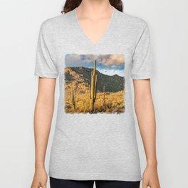 """""""Sonoran Desert Scene 10"""" by Murray Bolesta Unisex V-Neck"""