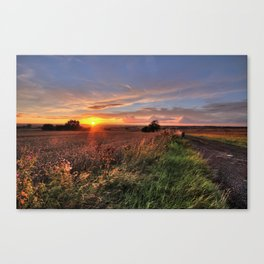 Tamworth Sunset Canvas Print