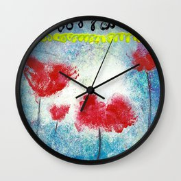 REMEMBER THE POPPIES Wall Clock