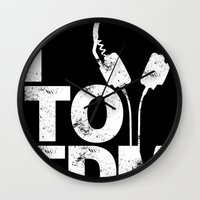 edm Wall Clocks featuring I Listen to EDM by DropBass