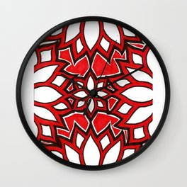 red lotus Wall Clock