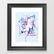 Live Without The Sunlight Owl Framed Art Print