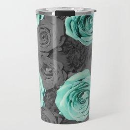 Teal Flower Travel Mug