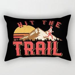 Vintage Gym Hit The Trail Running Marathon Gift Rectangular Pillow