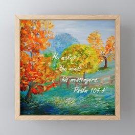 He Makes the Winds His Messengers Framed Mini Art Print