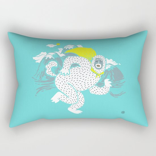 Save the Yeti Rectangular Pillow