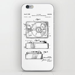 Turntable Patent iPhone Skin