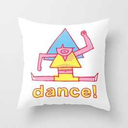 Funky Dancer #2 Throw Pillow