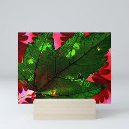 Green leaf Mini Art Print