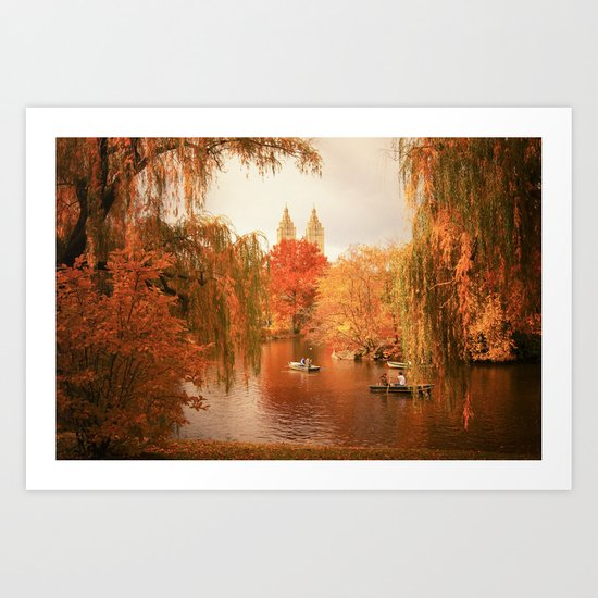 Central Park New York City Autumn Art Print