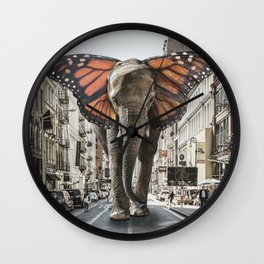 Lost Butterphant in NYC Wall Clock