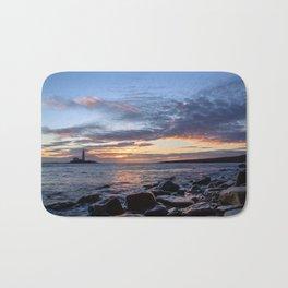 Sunrise at St Mary's Lighthouse Bath Mat