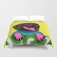 best friend Duvet Covers featuring Best Friend by Eolia