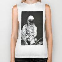 spaceman Biker Tanks featuring Spaceman by Bri Jacobs