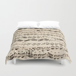 Johann Sebastian Bach (1685 – 1750) original music sheet Duvet Cover