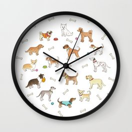 Breeds of Dog Wall Clock