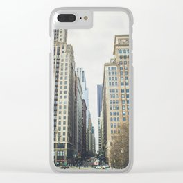 Chicago street Clear iPhone Case