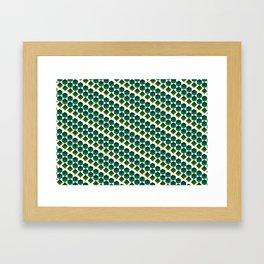 Green gems Framed Art Print