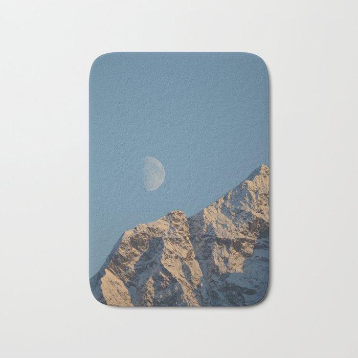 Moon Over Pioneer Peak - II Bath Mat