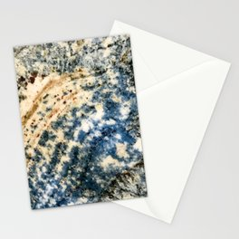 Milky Way Blue Marble With Sienna Brown Swirls Stationery Cards