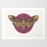silence of the lambs Art Prints featuring Silence by JadeJonesArt