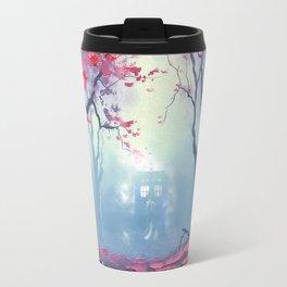 TARDIS CLOUD art painting Travel Mug