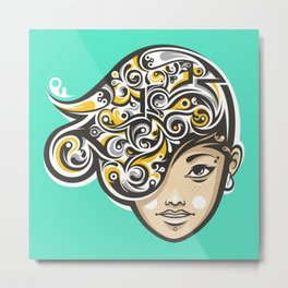 Swirly thoughts Metal Print