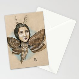 MOTH LADY Stationery Cards