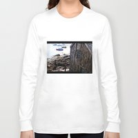 england Long Sleeve T-shirts featuring New England by My pet fox