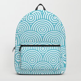 Scales - Light Blue & White #984 Backpack