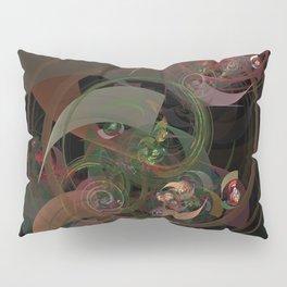 Abstract Fractal Spiral Pillow Sham
