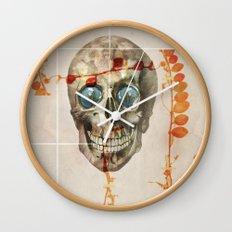 skull#04 Wall Clock