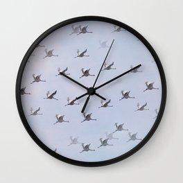 Cranes in Flight II #decor #society6 #buyart Wall Clock