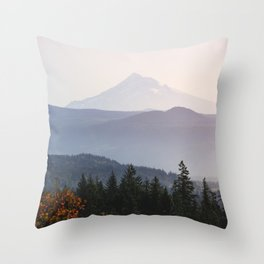 Mount Hood over the Columbia River Gorge Throw Pillow