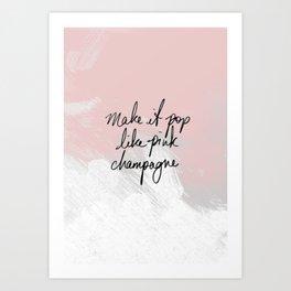 Popping Champagne Art Print