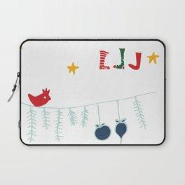 Holiday bird white Laptop Sleeve