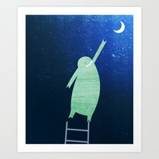 Monster Moon Art Print