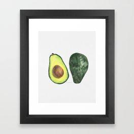 watercolor avocado Framed Art Print
