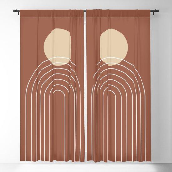 Mid Century Modern Geometric 3 (Terrocatta and beige) by nineflorals