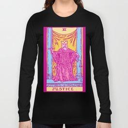 Justice - A Femme Tarot Card Long Sleeve T-shirt