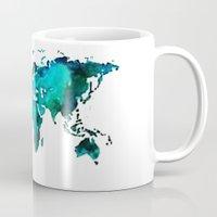 world maps Mugs featuring maps by StraySheep