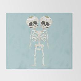 Siamese Twins Skeleton Throw Blanket
