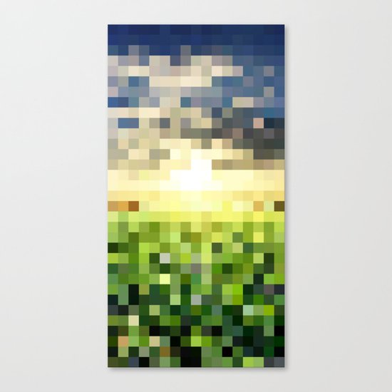 Pixel Sunset Canvas Print