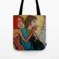 cigarette Tote Bags featuring cigarette by Samantha Sager