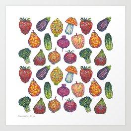 Vitamins - white Art Print