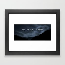 Truth. Framed Art Print